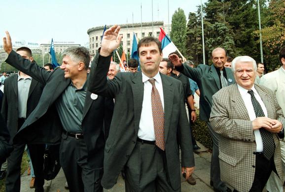 Zoran Đinđić i Vojislav Koštunica dok su se zajedno borili za promene