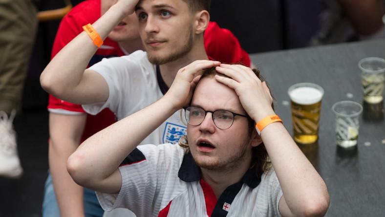 Mecz Anglia - Niemcy. Kibice