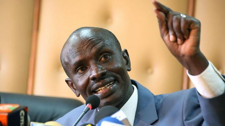 KNUT Secretary General Wilson Sossion addressing the media