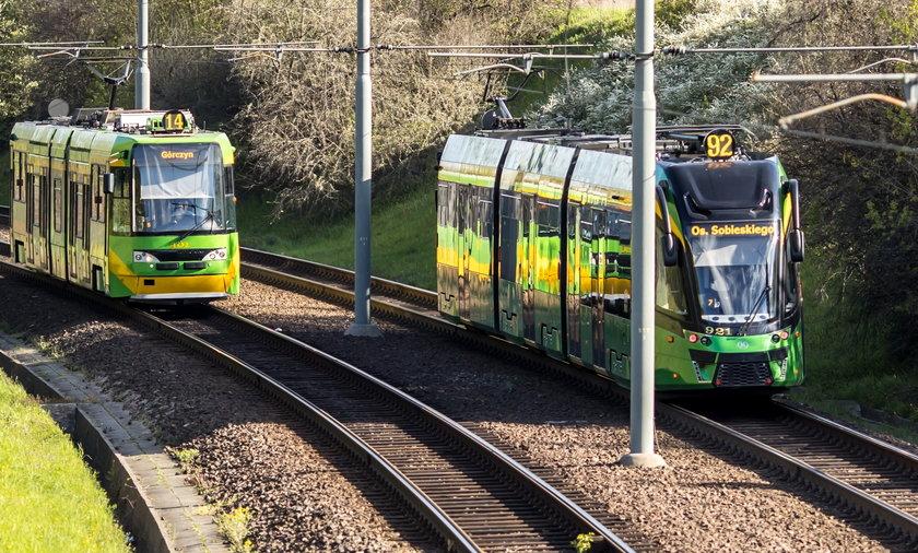 Poznańskie tramwaje są szybkie m.in. dzięki wydzielonym trasom.
