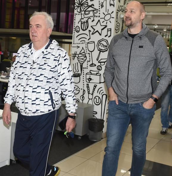 Božidar Maljković i Dino Rađa prilikom posete redakciji