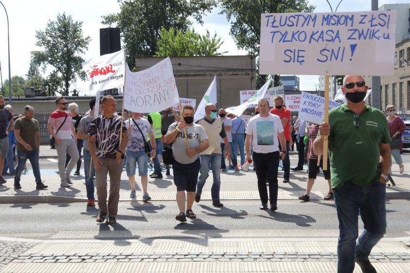Protest w ZWiK w Łodzi