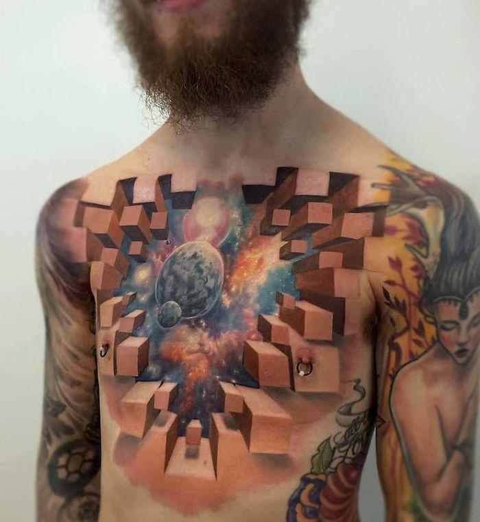 Kosmiczne Tatuaże Gwiazdy I Planety Na Tatuażach