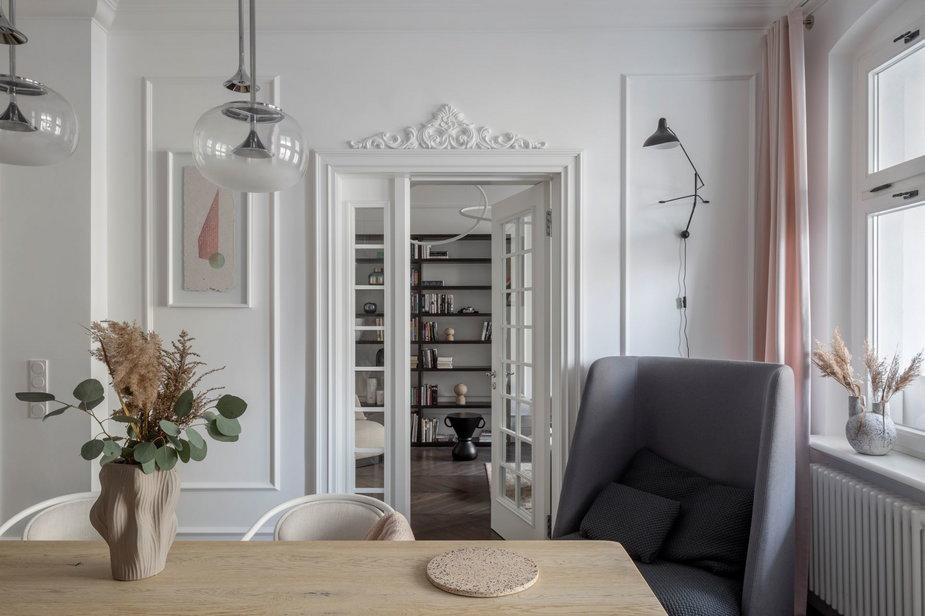 Mieszkanie architektki w przedwojennej kamienicy w Poznaniu