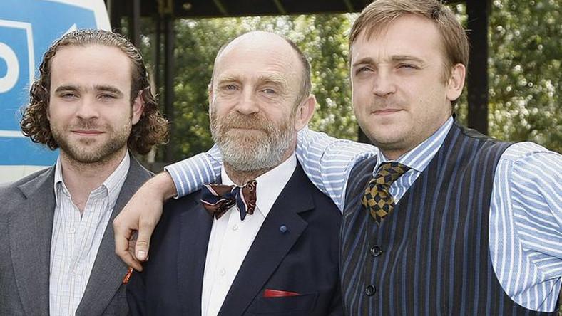 Adam Gessler z synami, Mateuszem i Adamem Szczęsnym