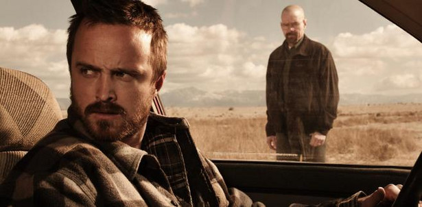 "Bryan Cranston i Aaron Paul w serialu ""Breaking Bad"""