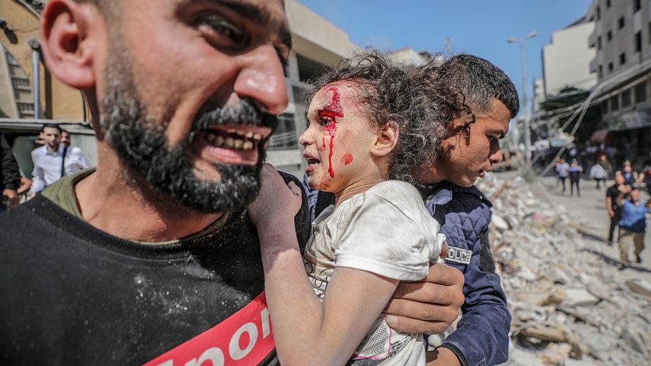 W niedzielę w izraelskich nalotach na Gazę zginęło 33 Palestyńczyków, w tym 13 dzieci