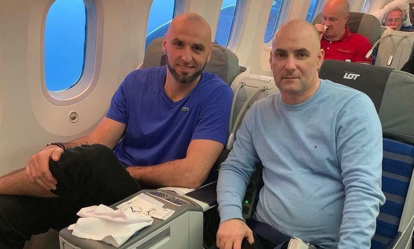 Marcin Gortat i Tomasz Gollob