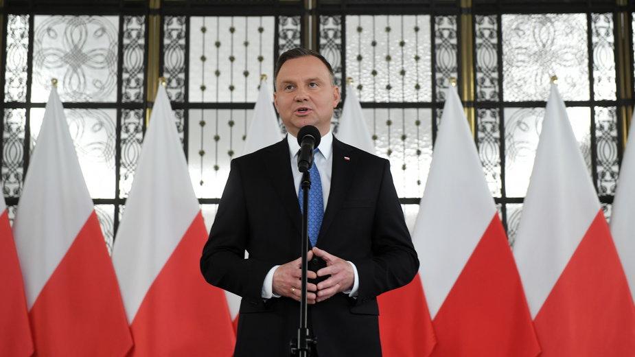 Prezydent Andrzej Duda w Sejmie. 4.06.2020 r.