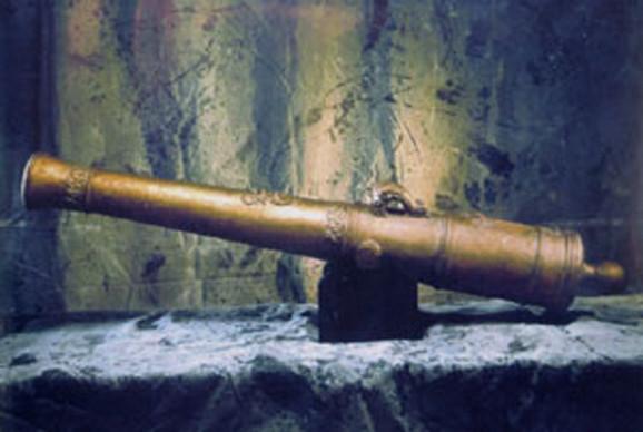 Bronzani top izvučen sa broda 1995.