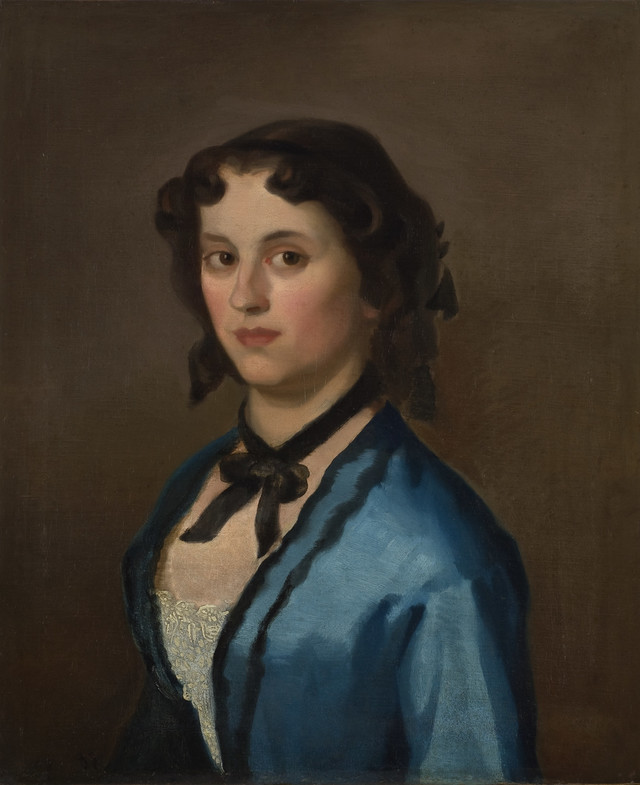 Đura Jakšić- Devojka u plavom, 1855.
