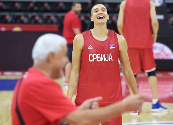 Bogdan Bogdanović i Miroslav Muta Nikolić na treningu Srbije