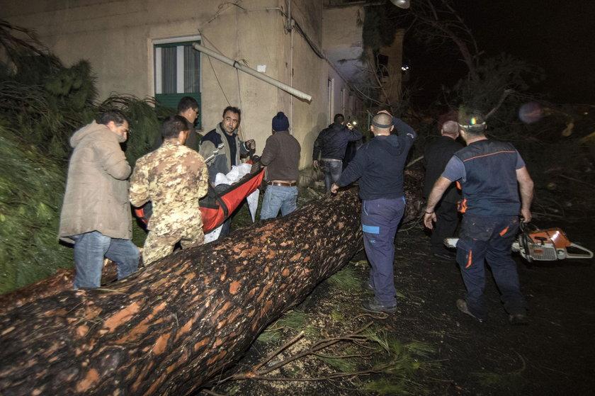 Największe zniszczenia dotknęły Cesano i Ladispoli