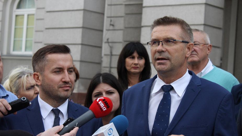 Bogdan Wenta i Kamil Suchański