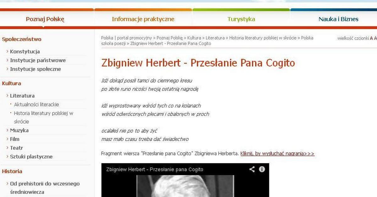 Msz Cenzuruje Zbigniewa Herberta Ze Strony Usunięto
