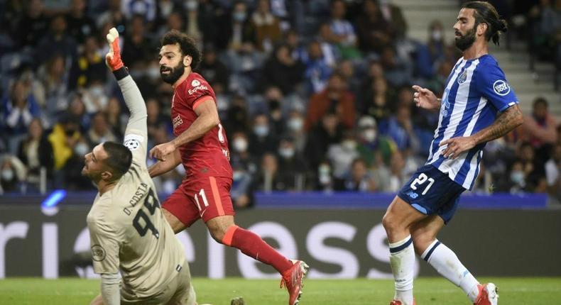 Liverpool forward Mohamed Salah scores against Porto Creator: MIGUEL RIOPA