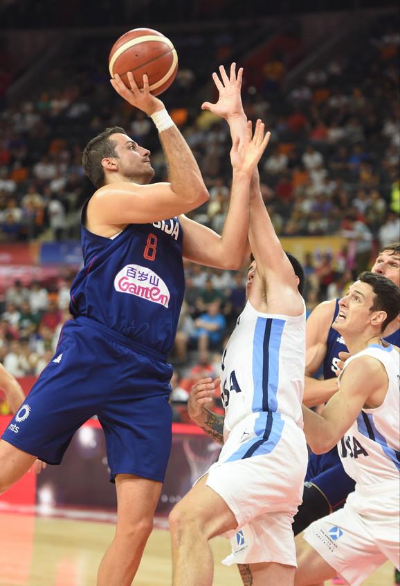 Nemanja Bjelica na meču Srbija - Argentina