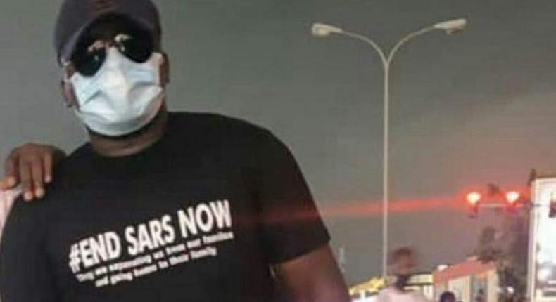 Anthony Unuode was stabbed to death by thugs during an #EndSARS protest in Abuja [Twitter/@sa_hanny]