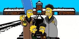 Simpsonowie z kreskówki wysłani do Auschwitz! Szokujący komiks