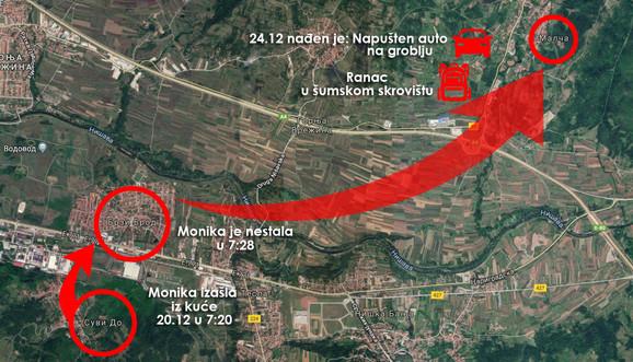 Mapa otmice male Monike