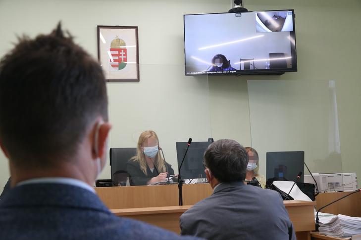 A tanúk (háttal) a csengeri örökösnő újabb tárgyalásán / Fotó: Grnák László