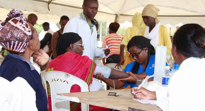 Over the weekend, the Sonko Rescue team offered free pharmacy services, laboratory tests, eye screening and ultrasound scan services across the city.