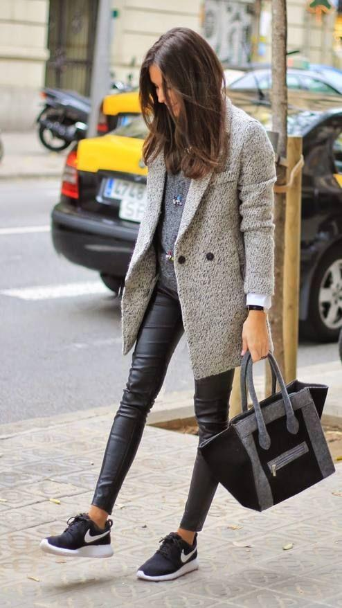 Leggings kombinieren: Cooler City-Look