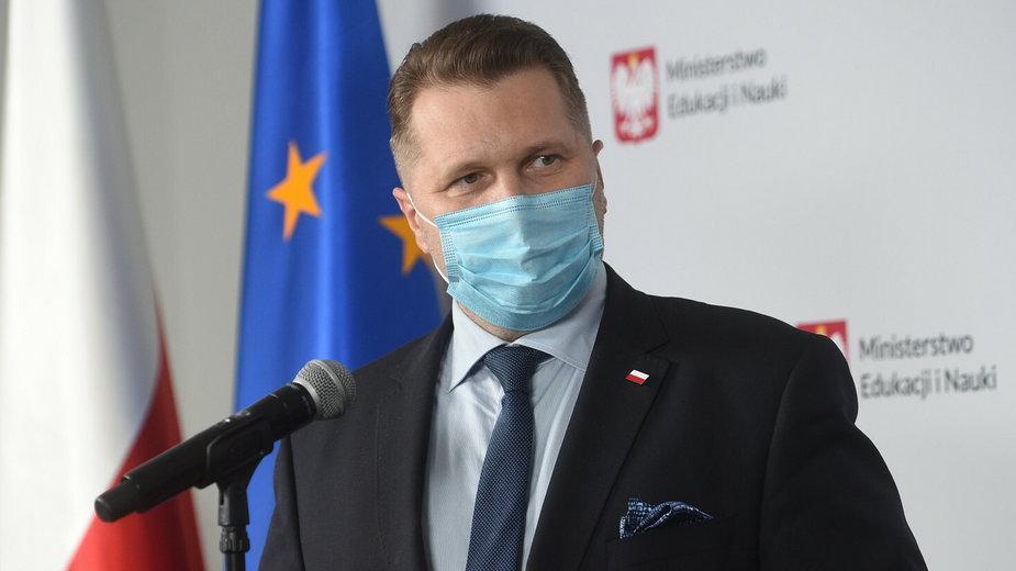 Przemysław Czarnek podczas konferencji Ministerstwa Edukacji i Nauki
