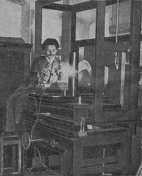 Jan Szczepanik w swojej pracowni  - domena publiczna