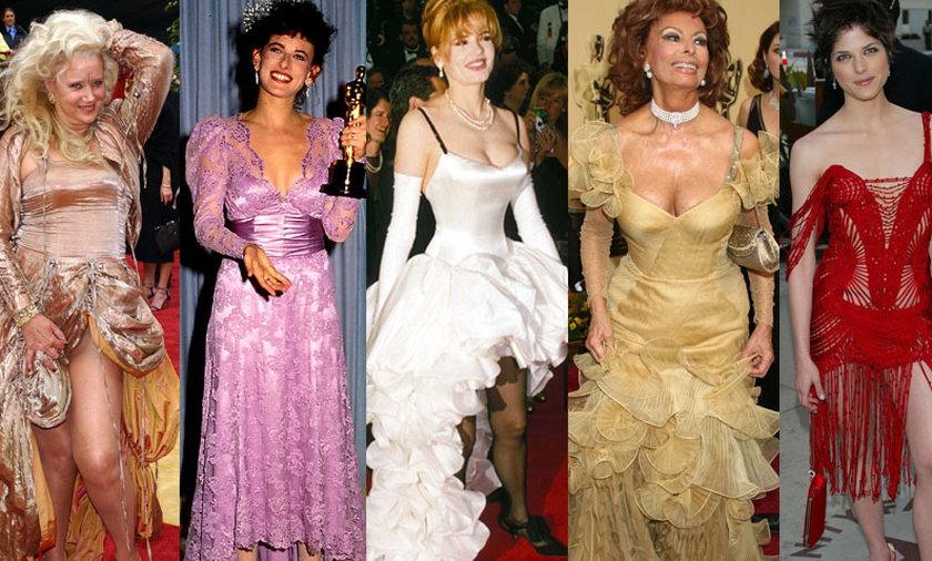 Szokujące kreacje na Oscarach