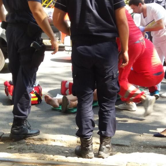 Povređeni muškarac je odvezen u Urgentni centar