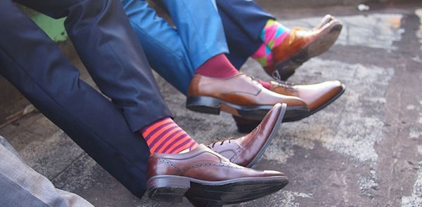 Wear socks that closely match your pants instead of happy socks (Courtesy)