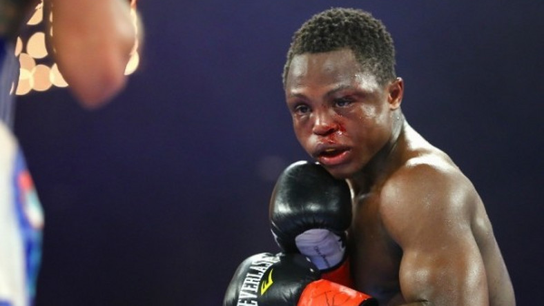 Isaac Dogboe was unable to continue the fight after his father threw in the towel
