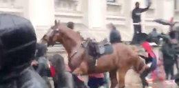 Przerażające nagranie. Spłoszony koń staranował kobietę. FILM