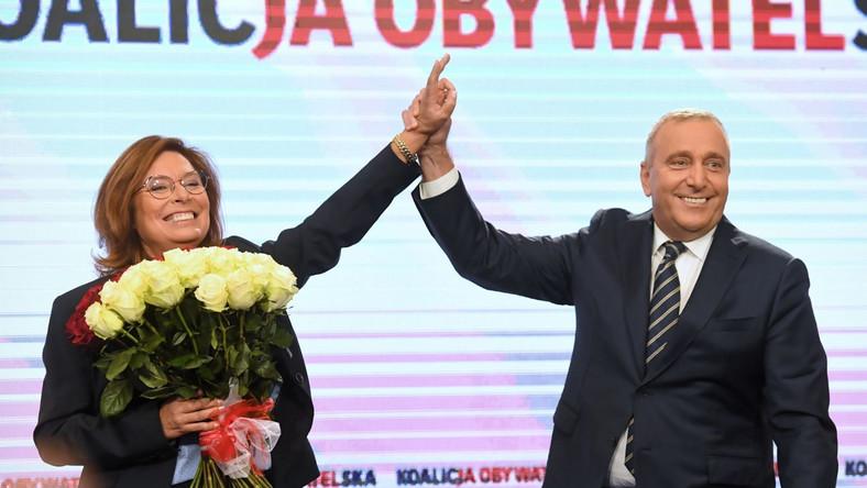Małgorzata Kidawa-Błońska z Grzegorzem Schetyną