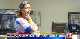 Ratowała zwierzęta podczas huraganu! Została aresztowana za podanie im leków
