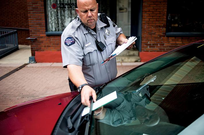 The City of Arvada is enforcing parking restrictions downtown, ticketing cars for staying too long.