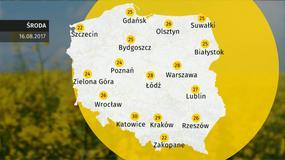 Prognoza pogody dla Polski - 16.08
