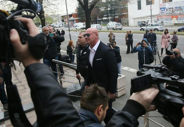 Ratko Romić kada je stigao u sud
