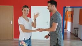 Marek Kaliszuk i Małgorzata Socha we wspólnym tańcu