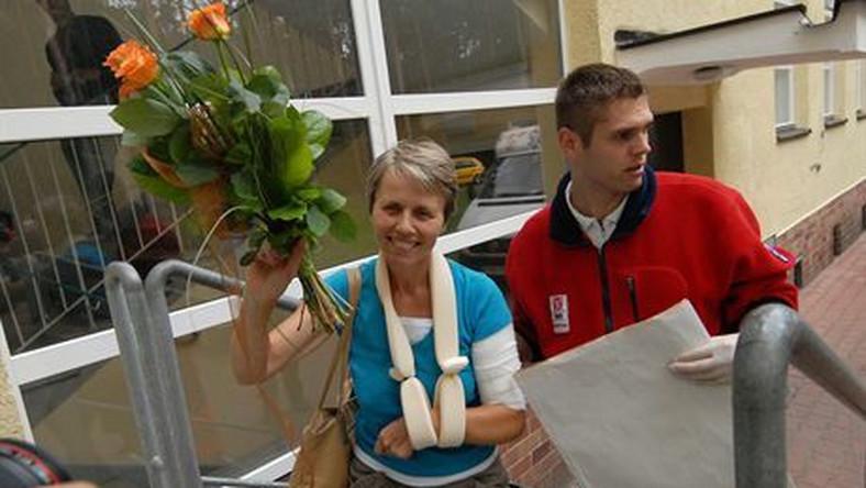 28-07-07 Szczecin Powrot kolejnych rannych pielgrzymow Z GrenoblN/z Krystyna  LesnianskaFoto OKON