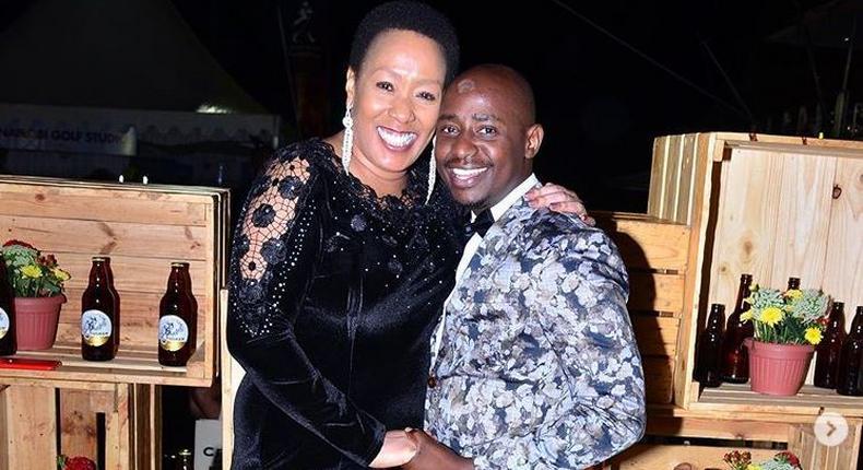 Cess Mutungi with her friend Patrick Githinji. Cess Mutungi quits Capital FM