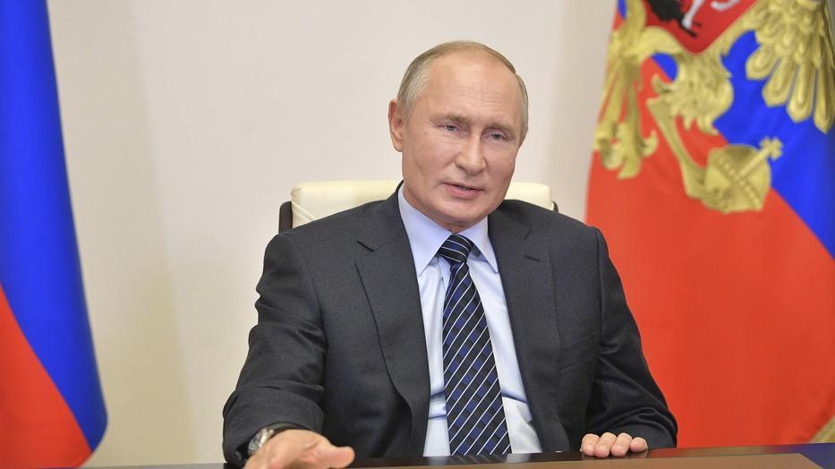 Az elnökválasztás hivatalos eredményére vár Vlagyimir Putyin / Fotó: Northfoto