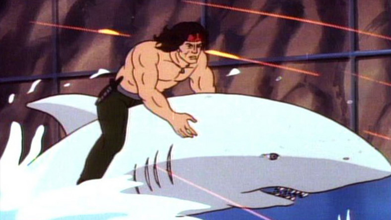 "Kadr z serialu ""Rambo"""