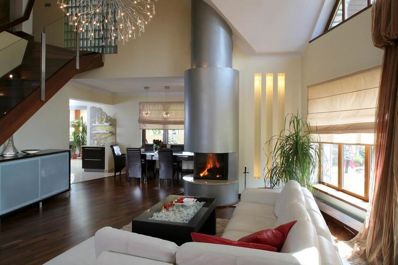 Gdzie umie ci kominek w salonie dom for Salon du mobil home