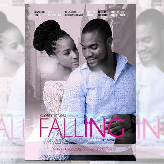 Kunle Rhemmy and Adesua Etomii in 'Falling'