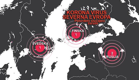 Na severu Evrope su do sada zabeleženi neki izolovani slučajevi