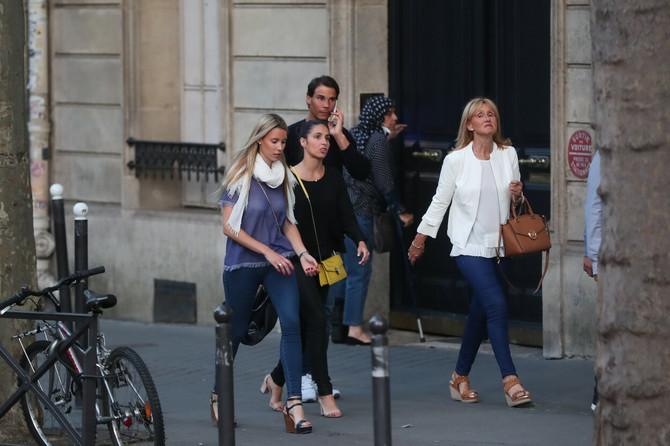 Nadal sa sestrom, suprugom i majkom 2018. u Parizu