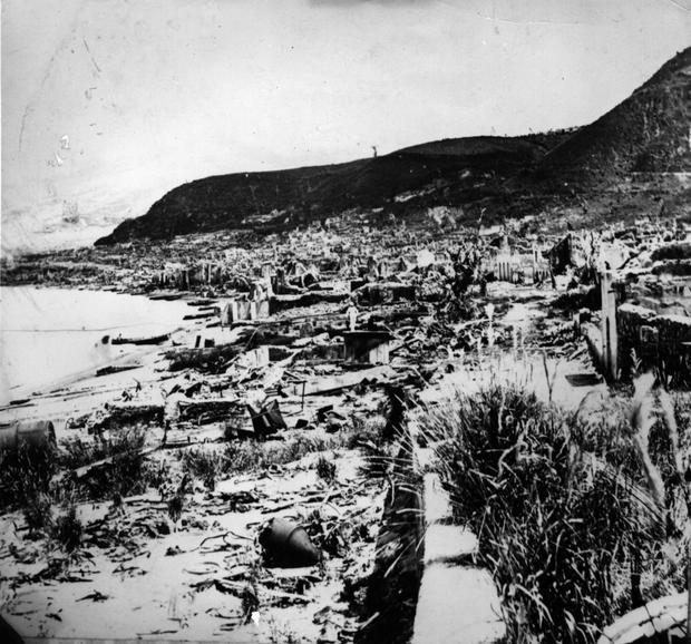 Saint-Pierre w ruinie po erupcji Montagne Pelee