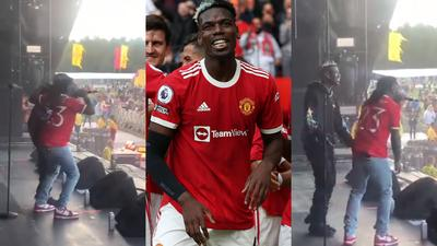 Watch: Paul Pogba performs with Burna Boy just hours after starring for Manchester United